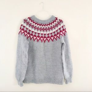 VINTAGE: chunky oversized knit sweater